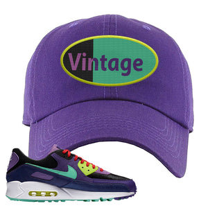 Air Max 90 Cheetah Dad Hat | Vintage Oval, Purple