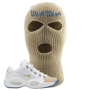 Reebok Question Low Oatmeal Dad Hat | White, We All We Got