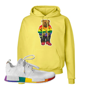 NMD R1 Pride Hoodie | Yellow, Sweater Bear