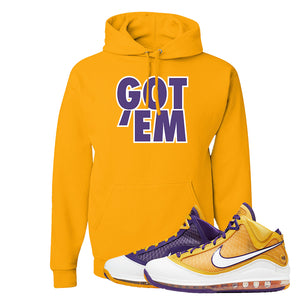 Lebron 7 'Media Day' Hoodie | Gold, Got Em