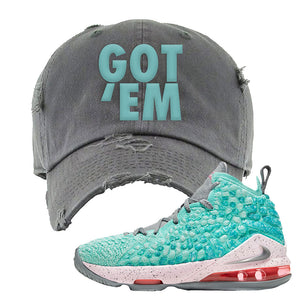LeBron 17 'South Beach' DIstressed Dad Hat | Light Gray, Got Em