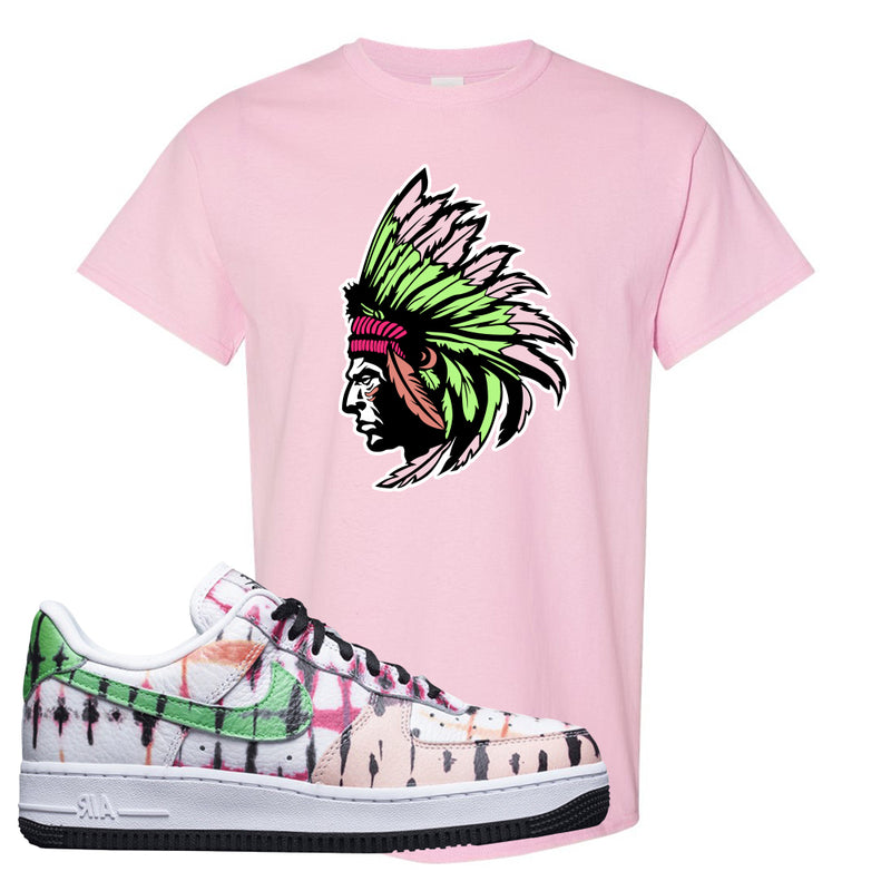 Air Force 1 Low Multi-Colored Tie-Dye T Shirt | Light Pink, Indian Chief
