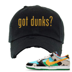 SB Dunk Low 'Chunky Dunky' Distressed Dad Hat | Black, Got Dunks?