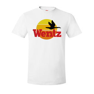 Wentz WaWa T-Shirt | Wentz WaWa White Tee Shirt the front of this shirt has the wentz wawa logo