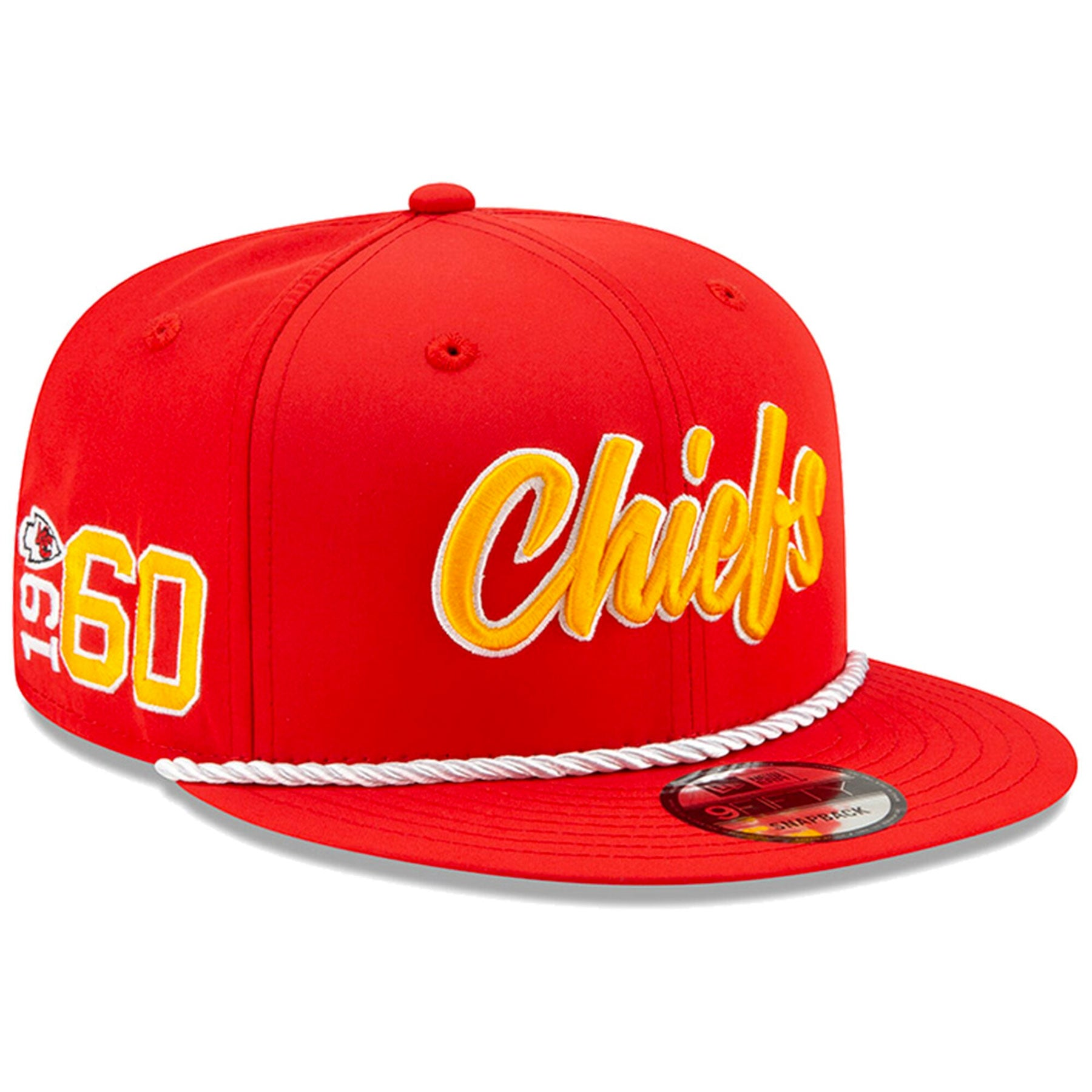 94549801 Kansas City Chiefs New Era 2019 NFL On Field Sideline Home Official 9FIFTY  1960s Red Snapback Hat