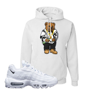 Air Max 95 White Black Hoodie | White, Sweater Bear