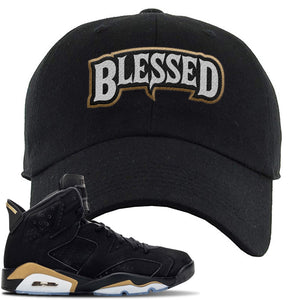 Jordan 6 DMP 2020 Sneaker Black Dad Hat | Hat to match Nike Air Jordan 6 DMP 2020 Shoes | Blessed Arch