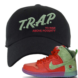 SB Dunk High 'Strawberry Cough' Dad Hat | Black, Trap To Rise Above Poverty