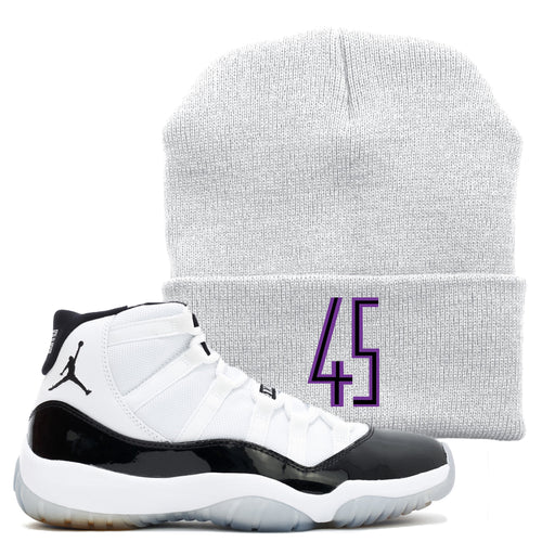 9f6417a8a6f6 The Jordan 11 Concord 45 sneaker matching winter beanie is a great item to  match your