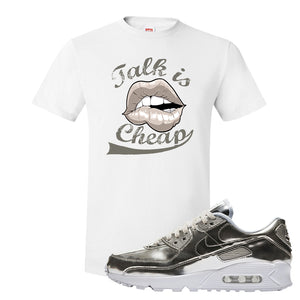 Air Max 90 WMNS 'Medal Pack' Chrome Sneaker White T Shirt | Tees to match Nike Air Max 90 WMNS 'Medal Pack' Chrome Shoes | Talk is Cheap
