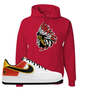 Air Force 1 Low Roswell Rayguns Hoodie | Indian Chief, Red