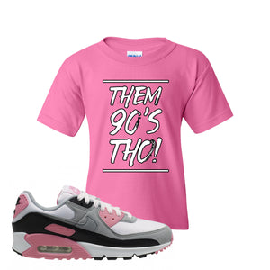 WMNS Air Max 90 Rose Pink Them 90s Tho Azalea Kid's T-Shirt To Match Sneakers