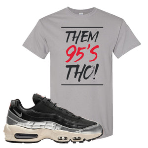 3M x Nike Air Max 95 Silver and Black T Shirt | Them 95s Tho, Gravel