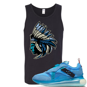 Air Max 720 OBJ Slip Light Blue Tank Top | Black, Indian Chief