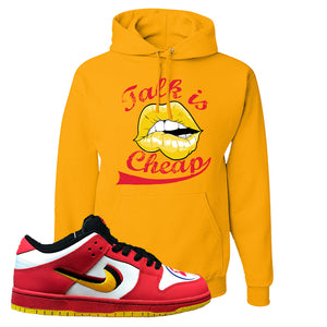 Nike Dunk Low Vietnam 25th Anniversary Pullover Hoodie | Talk Is Cheap, Gold