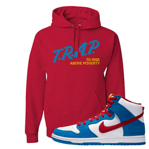 SB Dunk High Doraemon Hoodie | Trap To Rise Above Poverty, Red