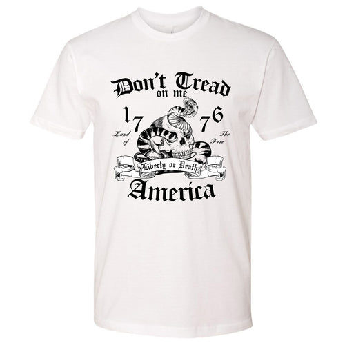 Standard Issue Don't Tread On Me Snake with Skull White Grunt Life T-Shirt