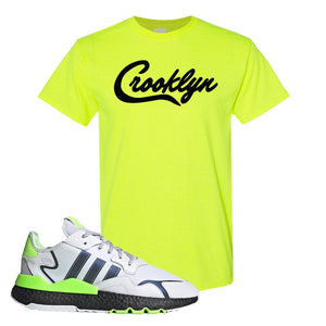 Nite Jogger Signal Green T Shirt | Safety Green, Crooklyn