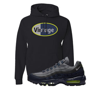 Air Max 95 Midnight Navy / Volt Hoodie | Black, Vintage Oval