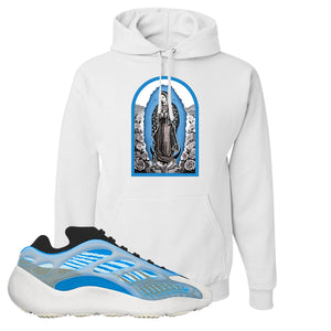 Yeezy 700 v3 Azareth Hoodie | White, Virgin Mary
