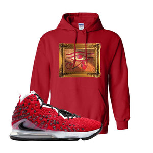 Lebron 17 Uptempo Hoodie | Red, Eye Of RA
