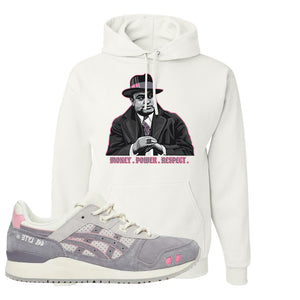 END x Asics Gel-Lyte III Grey And Pink Hoodie | Capone Illustration, White
