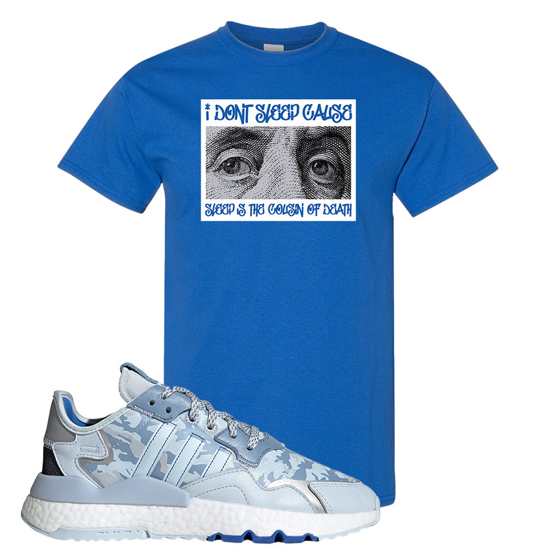 WMNS Nite Jogger Sky Tint Camo T Shirt | Royal Blue, Franklin Eyes
