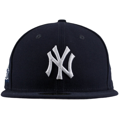 New York Yankees Championship Detail Patch Navy Blue 59Fifty Fitted Cap