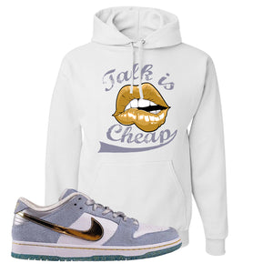Sean Cliver x SB Dunk Low Hoodie | Talk Is Cheap, White