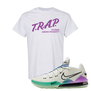 LeBron 17 Low Glow In The Dark T Shirt | Ash, Trap To Rise Above Poverty