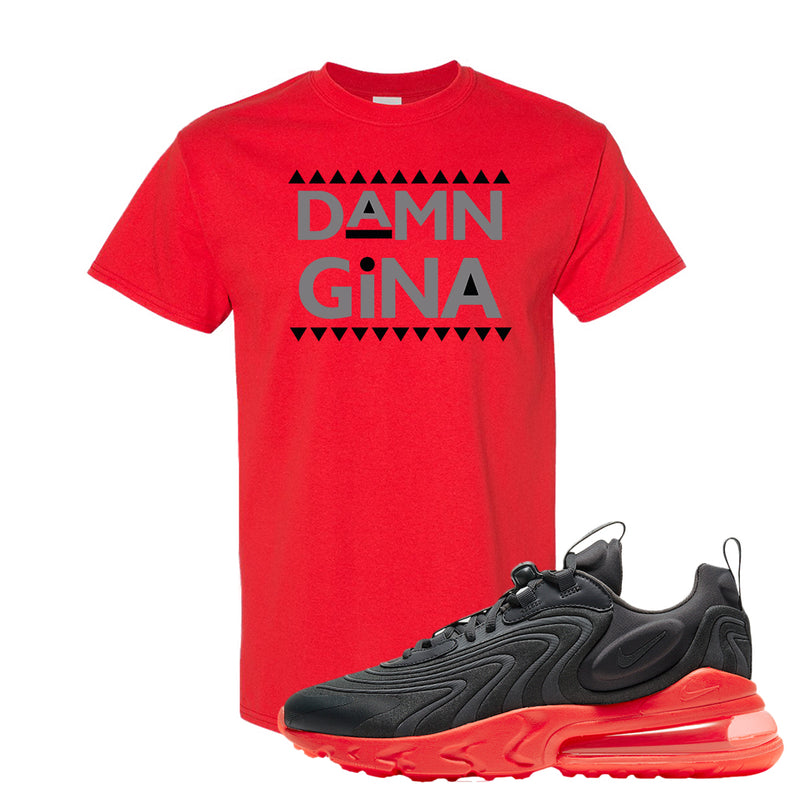 Air Max 270 React ENG Tonal Grey And Crimson Color T Shirt | Damn Gina, Red
