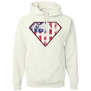 Standard Issue Diamond S Logo American Flag Distressed White Pullover Grunt Life Hoodie