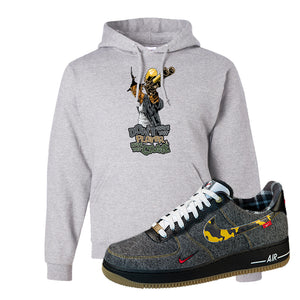 Air Force 1 Low Plaid And Camo Remix Pack Hoodie | Dont Hate The Playa, Ash