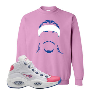 Question Mid Pink Toe Sweatshirt | Headband Corn Rows, Azalea