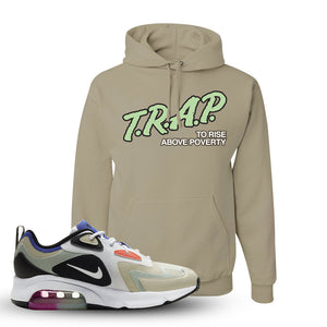 Air Max 200 WMNS Fossil Sneaker Khaki Pullover Hoodie | Hoodie to match Nike Air Max 200 WMNS Fossil Shoes | Trap To Rise Above Poverty