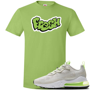 Air Max 270 React Ghost Green Sneaker Lime Green T Shirt | Tees to match Nike Air Max 270 React Ghost Green Shoes | Fresh