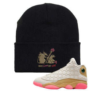 Jordan 13 Chinese New Year Beanie | Black, Army Rats