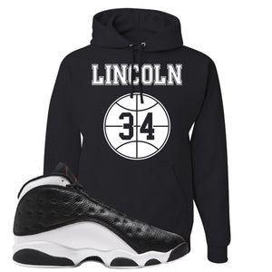 Jordan 13 Reverse He Got Game Lincoln 34 Black Sneaker Hook Up Pullover Hoodie