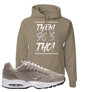 Air Max Triax 96 Grey Suede Hoodie | Them 90's Tho, Khaki