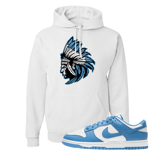 SB Dunk Low University Blue Hoodie | Indian Chief, White