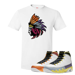 Air Jordan 9 Change The World T Shirt | Indian Chief, White