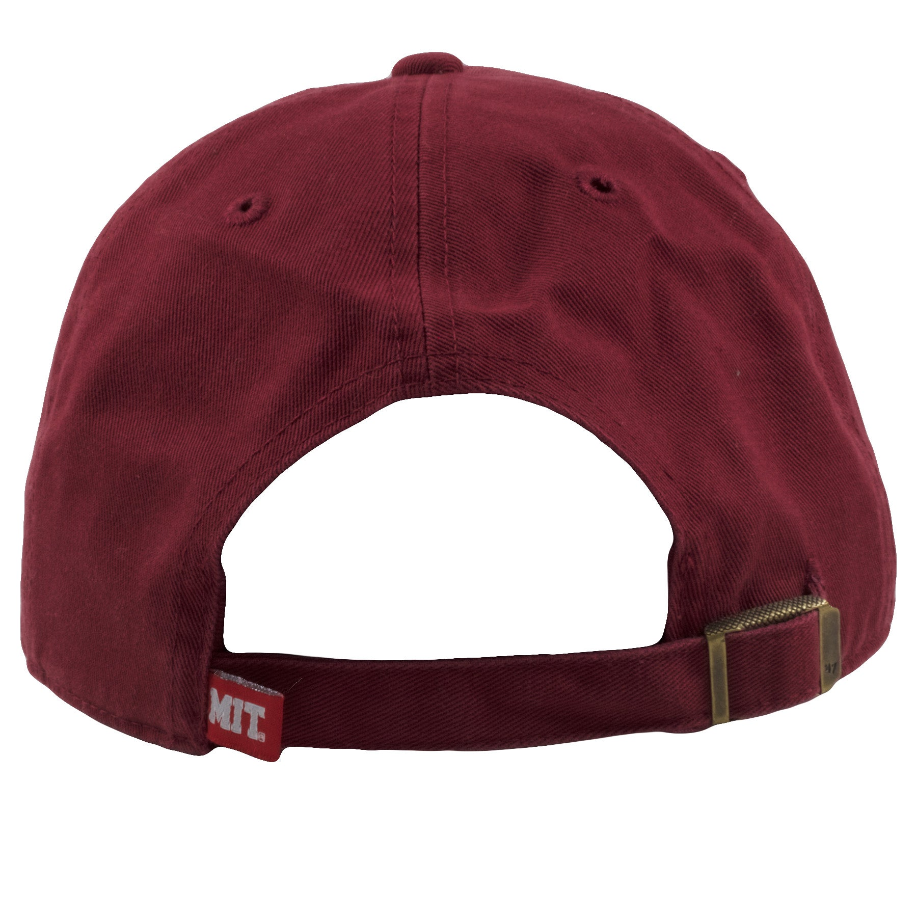 ... the back of the MIT adjustable dad hat is the maroon adjustable strap  secured by a f9cb0ee27110