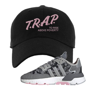 WMNS Nite Jogger True Pink Camo Dad Hat | Black, Trap to Rise Above Poverty