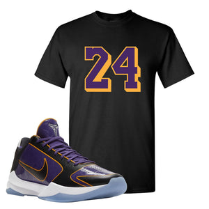 Kobe 5 Protro 5x Champ T Shirt | 24, Black