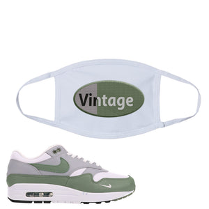 Air Max 1 Spiral Sage Face Mask | Vintage Oval, White