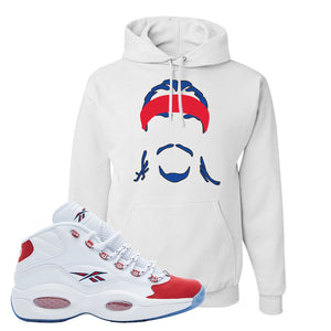 Question Mid OG Suede Toe Hoodie | Headband Corn Rows, White