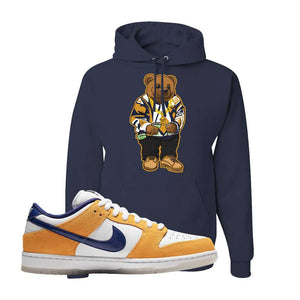 SB Dunk Low Laser Orange Hoodie | Navy, Sweater Bear