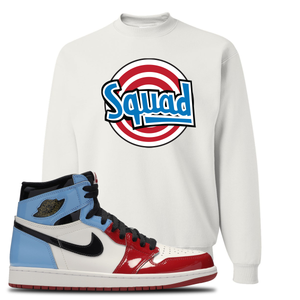 Air Jordan 1 Fearless Squad White Made to Match Crewneck Sweatshirt