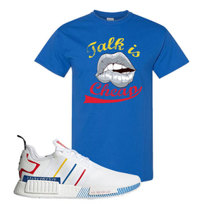 NMD R1 Olympic Pack T Shirt | Royal Blue, Talk is Cheap