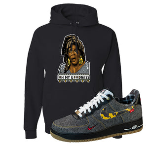 Air Force 1 Low Plaid And Camo Remix Pack Hoodie | Oh My Goodness, Black
